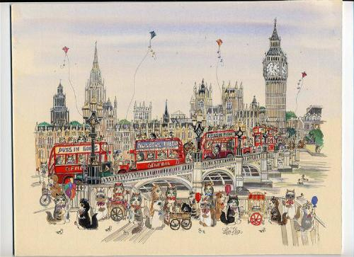 """Westminster Cats 12""""x14"""""""
