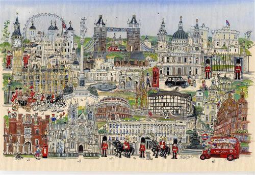 """A London Tour landscape 12""""x16"""""""