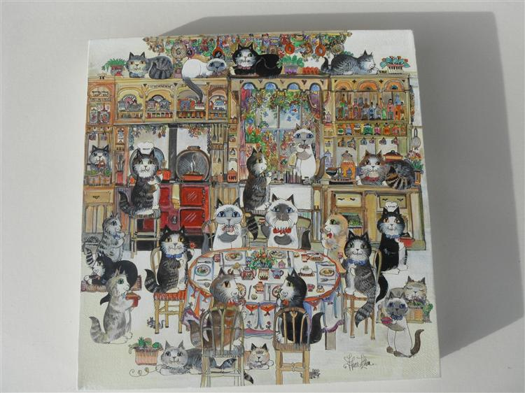 "The Cats Kitchen 12""x12"""