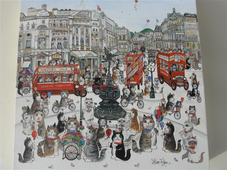 Piccadilly cats 10x8""