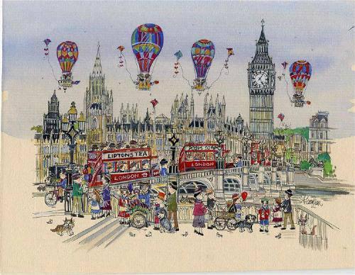 "Westminster Bridge Balloons 10"" x 8"""