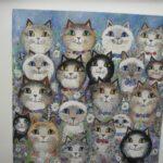 """Many cats 8x8"""" £125"""