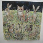 "Midnight  Hares 8x8"" £150"