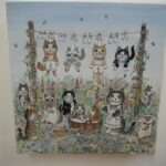 """Wash day for Kittens 8x8"""" £100"""