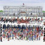 "Buckingham Palace 12""x16"" Pen & Watercolour"